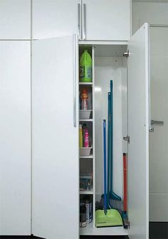 Broom Closet Organizer, Closet Organization, Kitchen Organization, Tall Cabinet Storage, Locker Storage, Office Lounge, Cleaning Closet, Extra Storage, Bathroom Medicine Cabinet