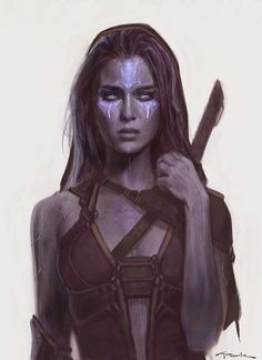 Cool Art: Early Gamora 'Guardians Of The Galaxy' concept art by Andy Park