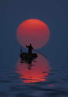 The Boat at Sunset   Amazing Pictures - Amazing Pictures, Images, Photography from Travels All Aronud the World