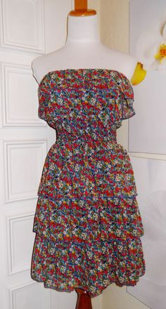 Rue 21 Strapless Ruffle Floral Tube dress #rue21 #Sundress #Casual