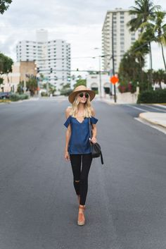 017743f45f4 7 For All Mankind b(air) denim and ruffle cami top