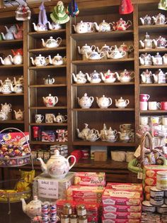 Tea & Sympathy, New York - I think this is the shop that has upside down teacups and saucers on the ceiling. Charming.