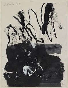 Lido I, 1965 by James Brooks  Ink and gouache on paper #art