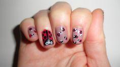 #LadyBug Nail Art Tutorial http://www.hairsprayandhighheels.net/2013/03/lady-bug-nail-tutorial.html#