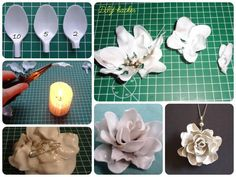 DiY. Amazing Flower Creations with Plastic Spoons. !