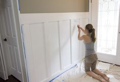 Batten Board Story from Jenna Sue Board And Batten, Wainscoting, Wall Treatments, Bath Remodel, Cozy House, Cozy Cottage, Jenna Sue, Home Projects, Foyer