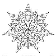 geometric coloring pages for adults printable - Free Printable Coloring Pages For Adults Geometric