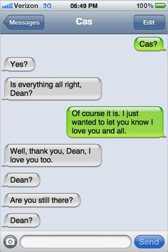 I think Dean died out of the feels. Funny Supernatural Memes, Supernatural Pictures, Supernatural Destiel, How High Are You, Fictional World, Super Natural, Superwholock, Funny Pictures, Cockles