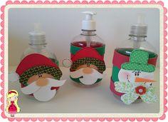 Stúdio E.V.A.: Porta sabonete líquido Papai Noel