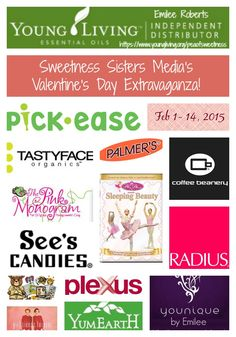 Enter to #win the Sweetness Sisters Media Valentine's Day #Giveaway - 4 prize packs - Ends 2/14 - Davids DIY