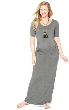 5cba3ec18d9e9 Motherhood Maternity Side Ruched Maternity Maxi Dress - for pregnancy  postpartum and beyond! #affiliate