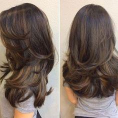 Haircuts Straight Hair, Long Hair Cuts, Medium Haircuts, Layered Haircuts, Medium Hair Styles, Curly Hair Styles, Hair Medium, Medium Curly, Long Layered Hair