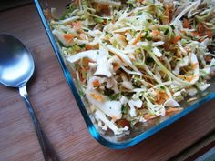 Cabbage can make a tasty, affordable salad, especially when purchased on sale. This coleslaw recipe bursts with sunshine flavors of lemon, carrot, and chive Salad Bar, Soup And Salad, Whole Food Recipes, Cooking Recipes, Healthy Recipes, Slaw Recipes, Cabbage Recipes, Food Dishes, Side Dishes