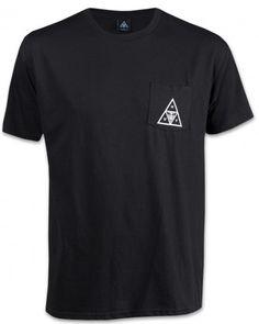 Obey X Huf Triple Triangle Herren T-Shirt schwarz