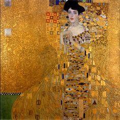 """(klimt) """"Adele Bloch-Bauer I"""" - 1907"""