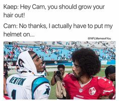 Cam: I actually have to put my helmet on