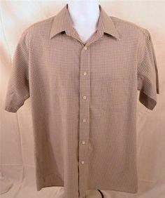 Stafford Men's Size 17 Short Sleeve Wrinkle Free Broad Cloth Shirt
