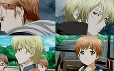 Zetsuen no Tempest-- I love the symbolism here. How child Yoshino is looking at Mahiro and how grown up Mahiro is looking at Yoshino. So relevant!