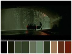 The Matrix (Lana and Lilly Wachowski, Movie Color Palette, Colour Pallette, Colour Schemes, Film Composition, Cinema Colours, Color In Film, Matrix Color, Color Script, Cinematic Photography