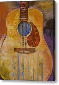 Acoustic Guitar Acrylic Print By Michael Creese