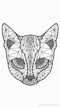 geometric cat tattoo - Google Search