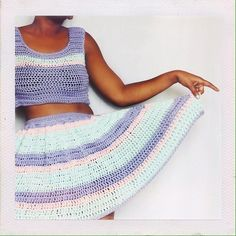"""thedreamcrochet From the new Collection & Giveaway A coordinating piece """" The Starburst Set"""" duo all in one pattern a cropped top (optional) and a matching striped crochet skirt with an elastic band! - #yarnaholic #etsyseller #crocheter #handmade #crafts #yarn  #crochetersofinstagram #etsyshop #yarnlove #diy #etsylove #crochetaddict #yarnaddict #crochetlove #craftastherapy #handmadelove  #crochetlife"""
