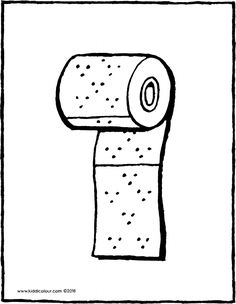 Toilet Paper Illustration Drawing Engraving Ink Line Art Vector