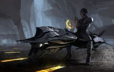 Future, Sci-Fi, Flying Vehicle, Dark, Futuristic, Armor, Augmented Reality, Future Soldier, Future Warrior, Flying Motorcycle, Science Fiction. Joon Ahn Concept Art and Illustration