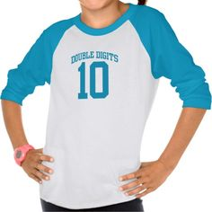 Great and fun tee your child will love wearing their <b>DOUBLE DIGITS VARSITY #10 BIRTHDAY tee.</b> It makes a wonderful gift for any child turning 10.