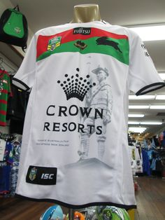 Rabbitohs 2015 ANZAC jersey Avaiblable from: The Poolroom Advance Australia Fair, Crown Resorts, Sydney, Mens Tops