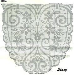 Kira scheme crochet: Scheme crochet no. Filet Crochet Charts, Crochet Cross, Crochet Home, Irish Crochet, Crochet Motif, Crochet Doilies, Crochet Stitches, Crochet Patterns, Crochet Flower
