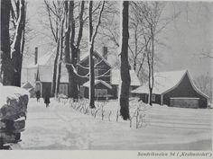 """Sandviksveien 94 - """"Krohnstedet"""" - nå på Gamle Bergen Museum. Foto: Olai Schumann Olsen - fra boken """"Schumann Olsens Bergens-billeder""""."""