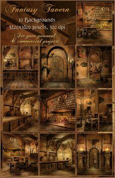 Fantasy Tavern by UnholyVault.deviantart.com on @DeviantArt