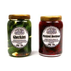 Pickled Beetroot and Gherkins - Doll's House Miniature Food Handmade