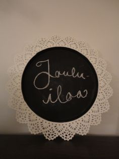 A cute DIY blackboard made with IKEA Skurar candle dish and chalkboard paint.