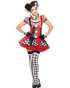 Harlequin Clown Womens Costume #Halloween2013