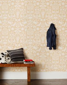 Emily Isabella for Hygge & West Otomi in Cream Wallpaper Outlet Item (Condition: Opened box) - Outlet Cream Wallpaper, Baby Wallpaper, Couple Wallpaper, Pattern Wallpaper, Kitchen Wallpaper, Closet Wallpaper, Adhesive Wallpaper, Wallpaper Ideas, Hygge And West