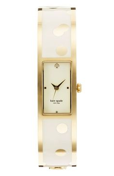 Love this gold polka dot watch!