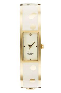 Love this gold polka dot watch!