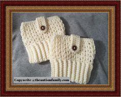 Crocheted ladies boot cuffs
