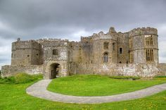 Carew Castle, Carew, County of Pembroke, Wales. The Castle was built in 1100 by Gerald de Windsor.