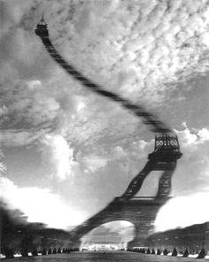 Optical distortion, Paris 1965                (Robert Doesnau)