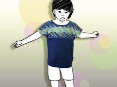 Ein weitgeschnittenes luftiges Sommershirt für Jungen und Mädchen ab Größe EU 68 bis Größe EU 116! Erfahre mehr auf Dawanda, Etsy oder Ezebee bei mypunctum! Fallout Vault, Disney Characters, Fictional Characters, Shirts, Disney Princess, Boys, Self, Exotic Flowers, Guys
