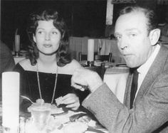 Rita Hayworth and choreographer Hermes Pan. The two met when she first signed on at Columbia Pictures, and were lifelong friends. He said she had the greatest shoulders and knew how to dance with them.
