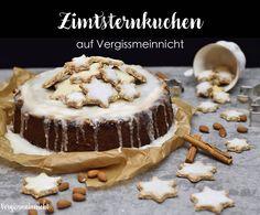 Leckerer Zimtsternkuchen mit  Weihnachtlichen Gewürzen und einer schönen Zimtstern Plätzchen Dekoration. Ein perfekter Kuchen für den Advent.