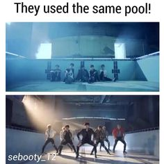 "EXO|BTS on Instagram: ""So I created my own post, I found this when I was watching knk and I thought the pool looked familiar. If repost (which I doubt)please give credit #knk#bts#musicvideo"" @sebooty_12"