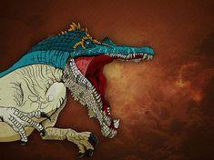 Dinosaur Print Baryonyx Jurassic Park Jurassic World