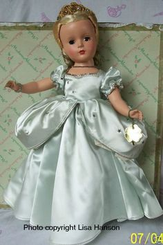 Alexander Doll Co. Inc.   1950 Hard plastic Cinderella uses the Margaret face mold. Photo courtesy of Lisa Hanson.