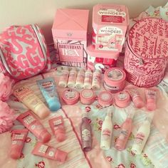 Girly products. Oh my goodness. Soap and glory heaven!