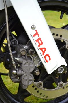 Honda NS400R TRAC Honda's front fork anti-dive, all four Japanese manufactures had versions